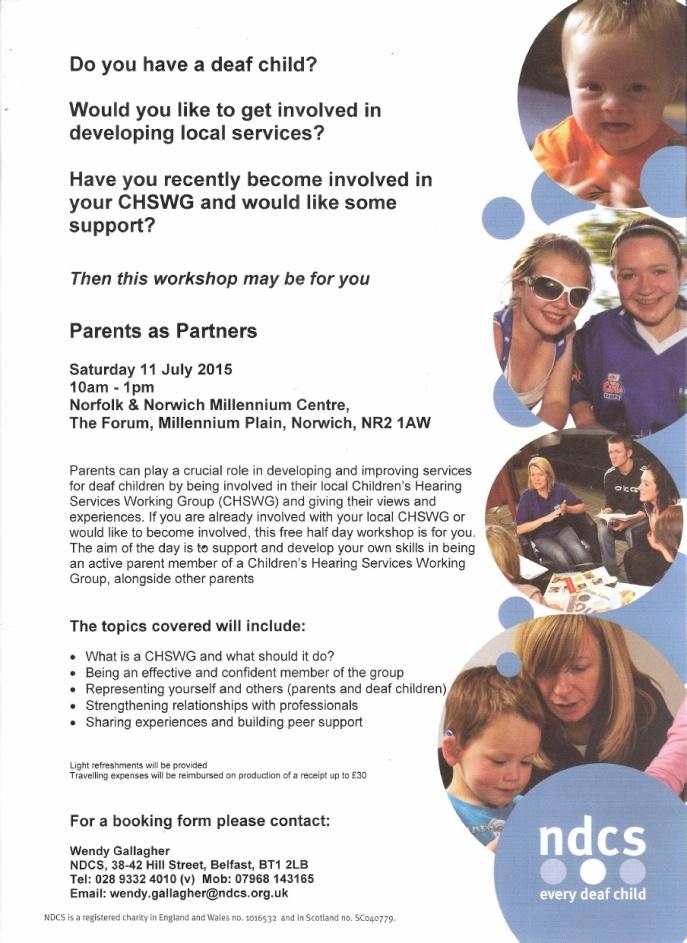 CHSWG Parents as Partners workshop